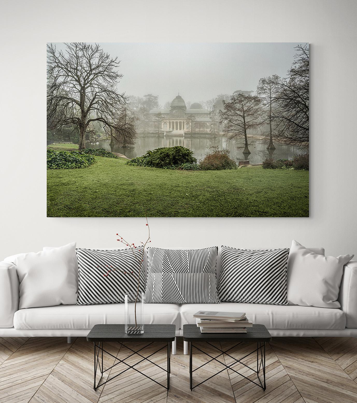 Palacio de Cristal, Parque del Retiro Niebla, Madrid, por el fotógrafo Adolfo Gosálvez. Venta de Fotografía de autor en edición limitada. AG Shop.