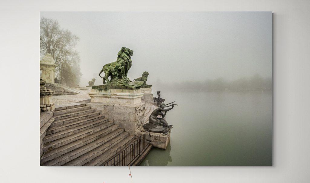 Parque del Retiro Niebla, Madrid, por el fotógrafo Adolfo Gosálvez. Venta de Fotografía de autor en edición limitada. AG Shop.