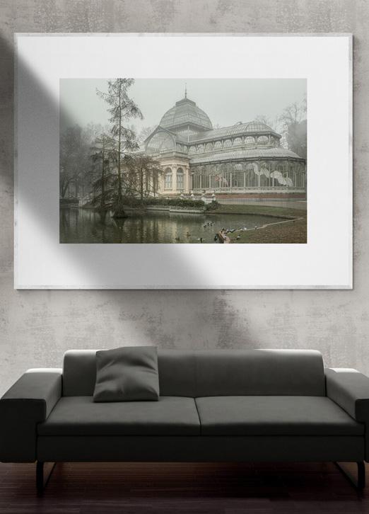 Palacio de Cristal con niebla, Parque del Retiro, por Adolfo Gosálvez. Venta de Fotografía de autor en edición limitada. AG Shop