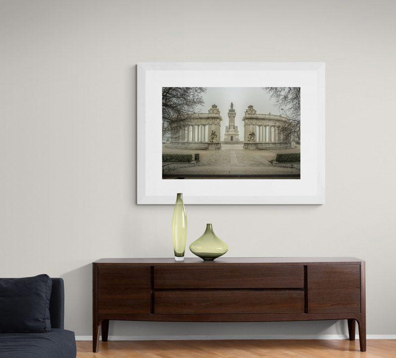 Parque del Retiro con niebla. Monumento a Alfonso XII en Madrid por Adolfo Gosálvez. Venta de Fotografía de autor en edición limitada. AG Shop