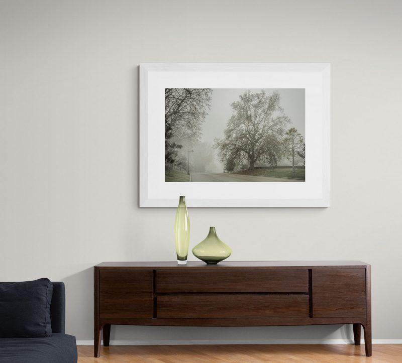 Parque del Retiro con niebla en Madrid por Adolfo Gosálvez. Venta de Fotografía de autor en edición limitada. AG Shop