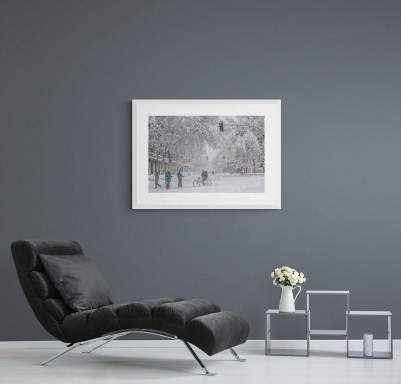Filomena. Madrid Nevado. Calle Velázquez, por Adolfo Gosálvez. Venta de Fotografía de autor en edición limitada. AG Shop