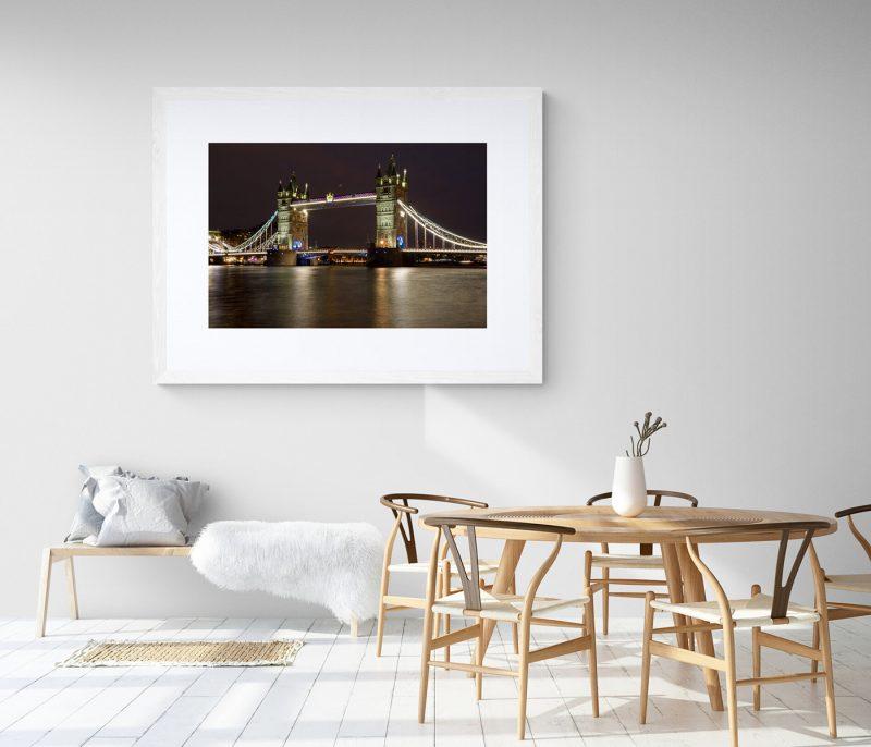 Vista nocturna London Bridge, Londres, por Adolfo Gosálvez. Venta de Fotografía de autor en edición limitada. AG Shop
