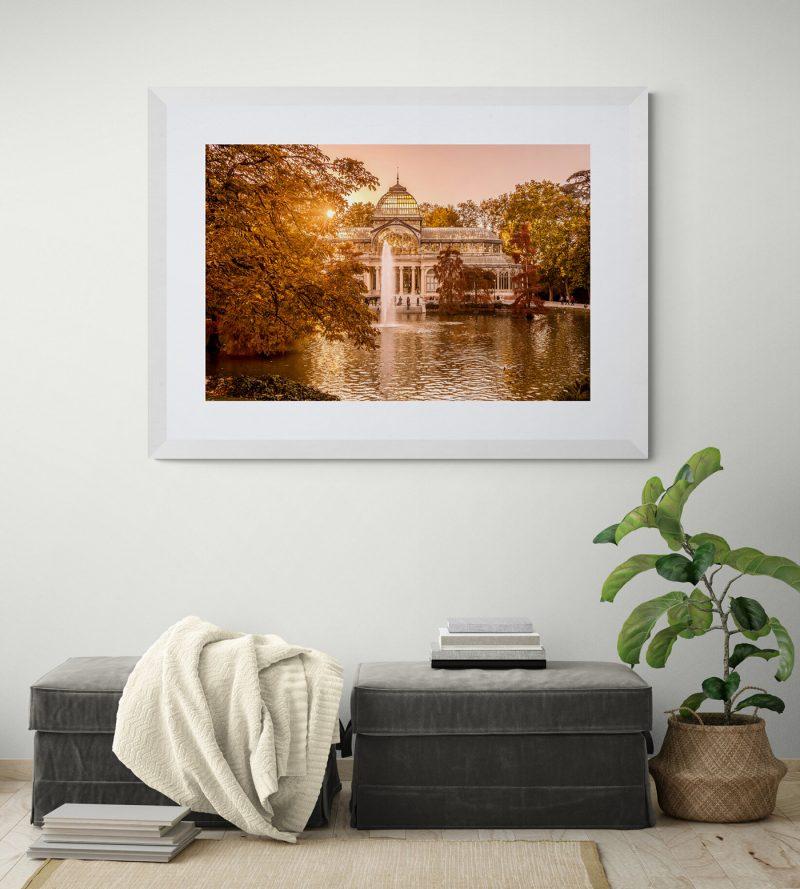 Palacio de Cristal atardecer, Parque del Retiro, Madrid, por Adolfo Gosálvez. Venta de Fotografía de autor en edición limitada. AG Shop