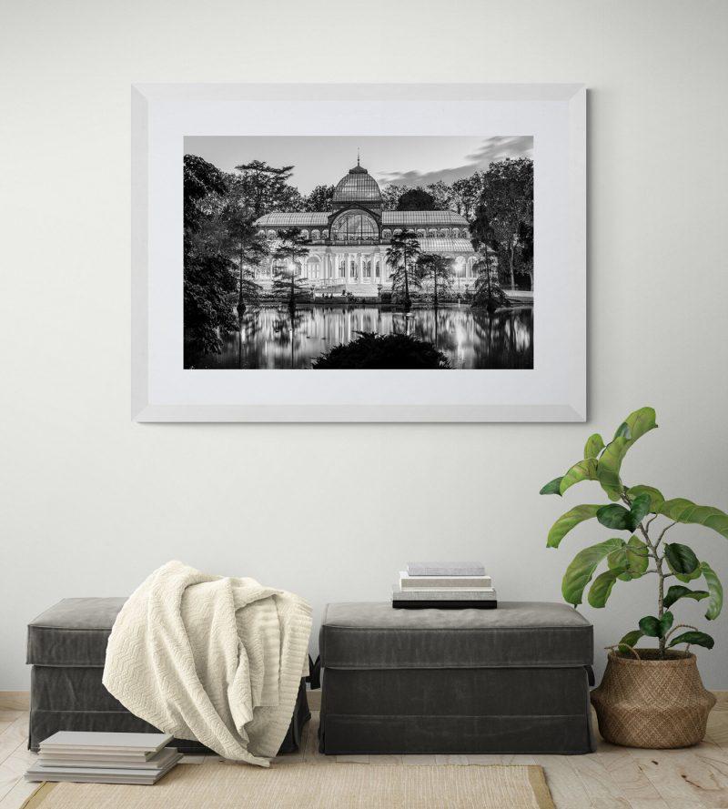 Palacio de Cristal en el Parque del Retiro, Madrid, blanco y negro por Adolfo Gosálvez. Venta de Fotografía de autor en edición limitada. AG Shop