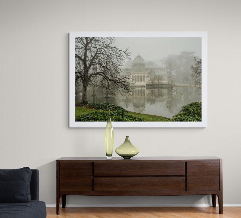 Parque del Retiro con niebla, Palacio de Cristal por Adolfo Gosálvez. Venta de Fotografía de autor en edición limitada. AG Shop
