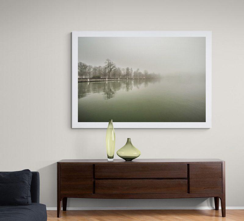 Parque del Retiro con niebla, Estanque por Adolfo Gosálvez. Venta de Fotografía de autor en edición limitada. AG Shop