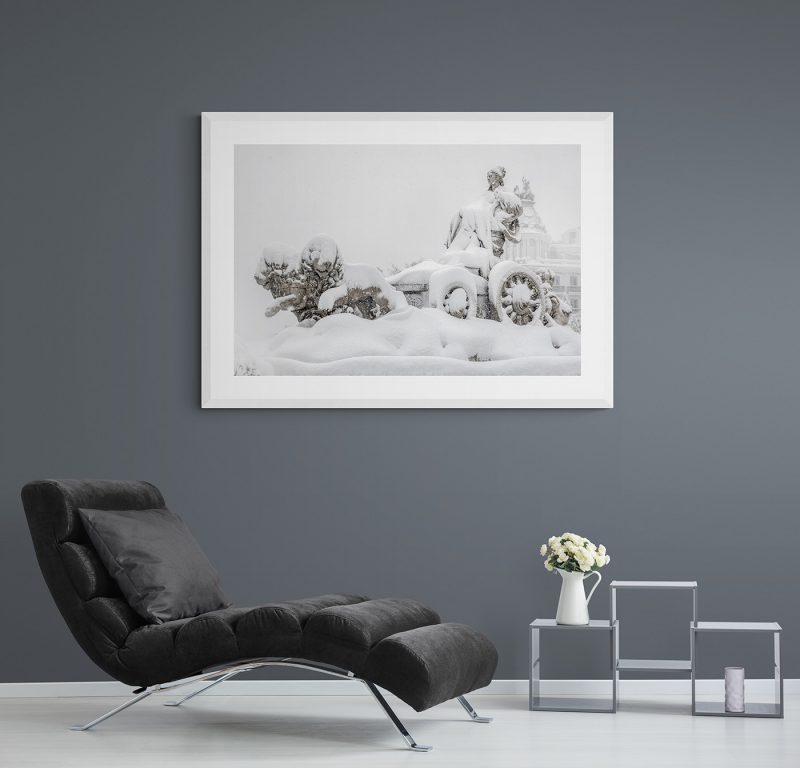 Filomena. Madrid Nevado. Fuente de la Cibeles por Adolfo Gosálvez. Venta de Fotografía de autor en edición limitada. AG Shop