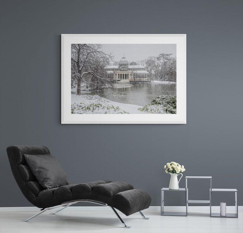 Filomena. Madrid Nevado. Palacio de Cristal en el Parque del Retiro por Adolfo Gosálvez. Venta de Fotografía de autor en edición limitada. AG Shop