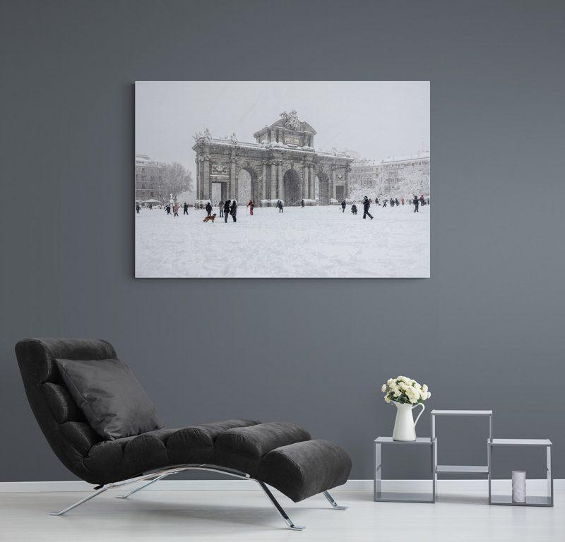 Filomena. Madrid Nevado. Puerta de Alcalá por Adolfo Gosálvez. Venta de Fotografía de autor en edición limitada. AG Shop