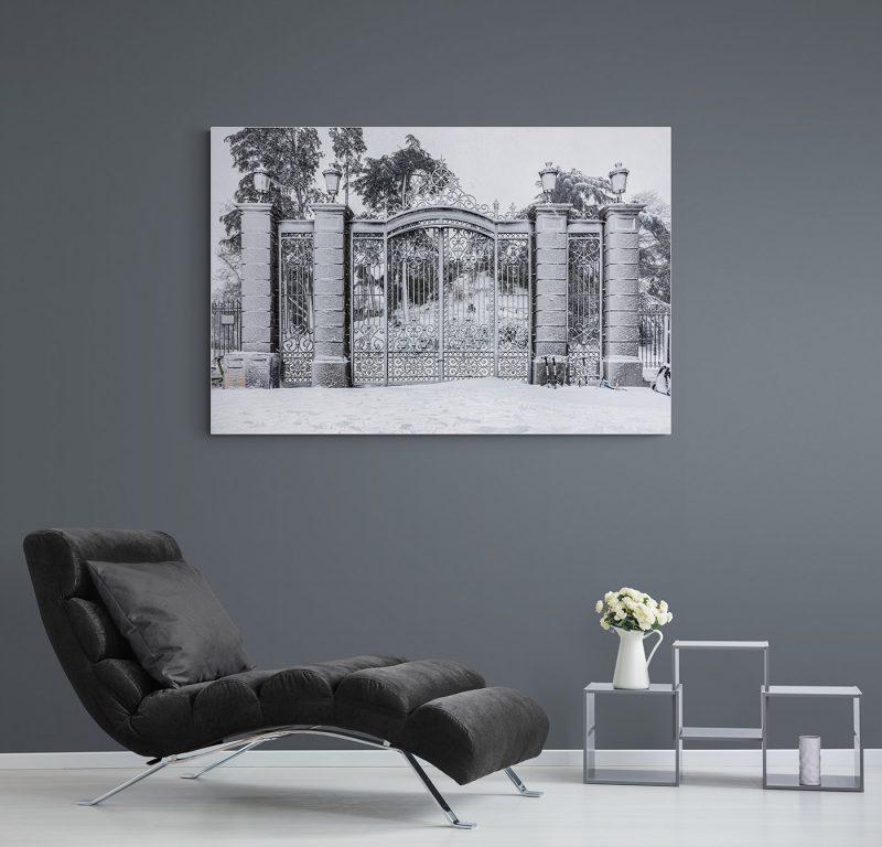 Filomena. Madrid Nevado. Puerta de O'Donell en el Parque del Retiro por Adolfo Gosálvez. Venta de Fotografía de autor en edición limitada. AG Shop