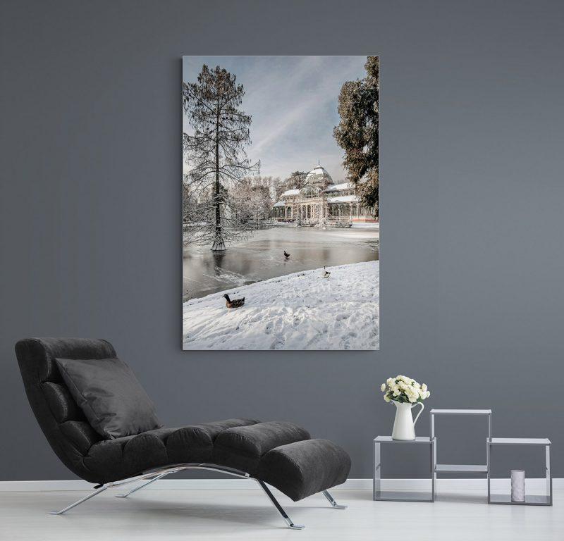 Madrid Nevado. Palacio de Cristal en el Parque del Retiro, por Adolfo Gosálvez. Venta de Fotografía de autor en edición limitada. AG Shop