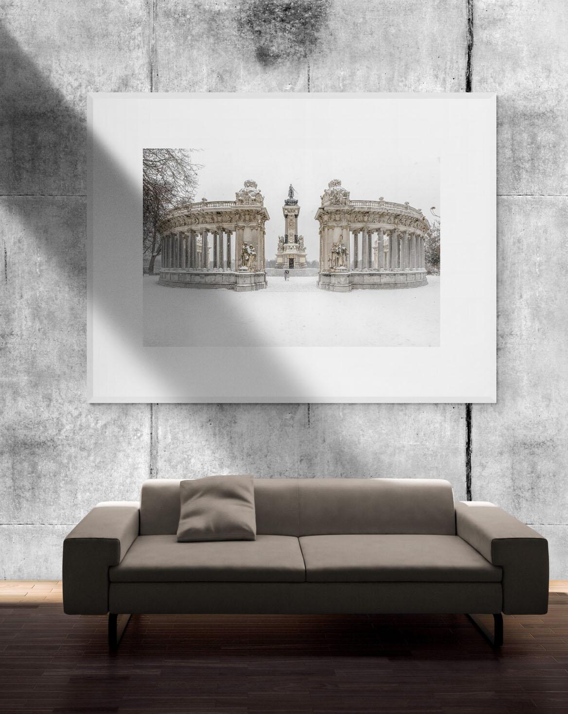 Filomena. Madrid Nevado, Monumento a Alfonso XII en el Parque del Retiro, por Adolfo Gosálvez. Venta de Fotografía de autor en edición limitada. AG Shop