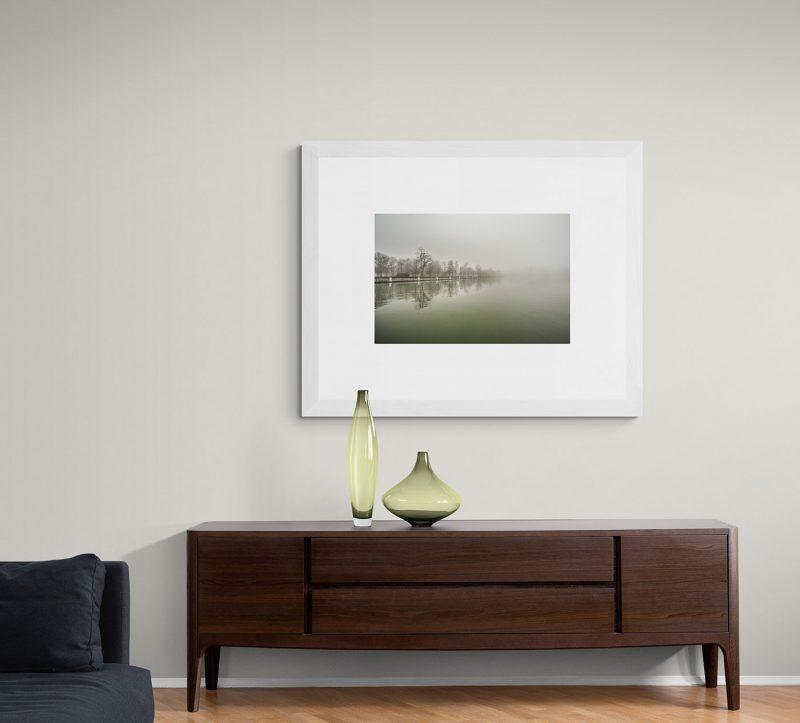 Parque del Retiro con niebla. Estanque, Madrid por Adolfo Gosálvez. Venta de Fotografía de autor en edición limitada. AG Shop