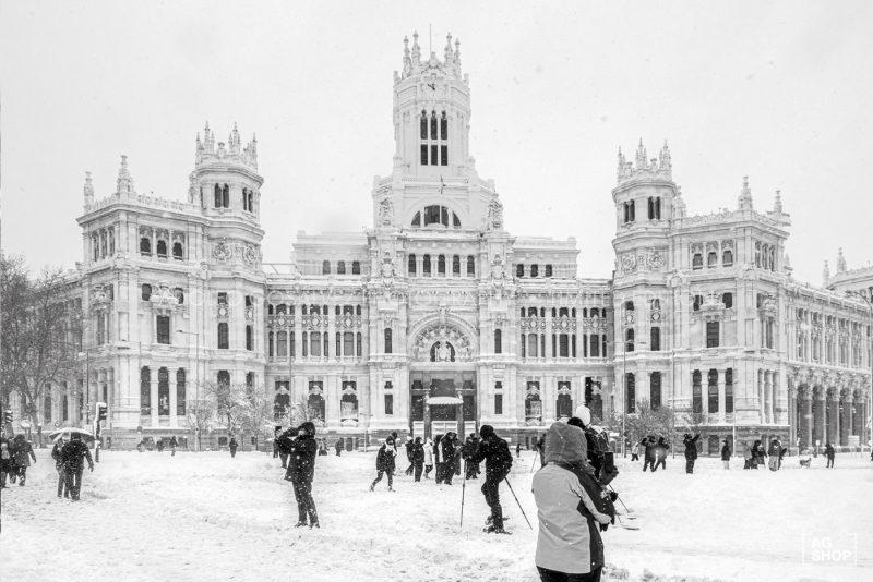 Filomena. Madrid Nevado. Ayuntamiento por Adolfo Gosálvez. Venta de Fotografía de autor en edición limitada. AG Shop