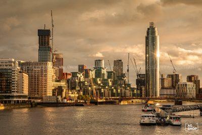 Distrito financiero de Londres al atardecer, por Adolfo Gosálvez. Venta de Fotografía de autor en edición limitada. AG Shop