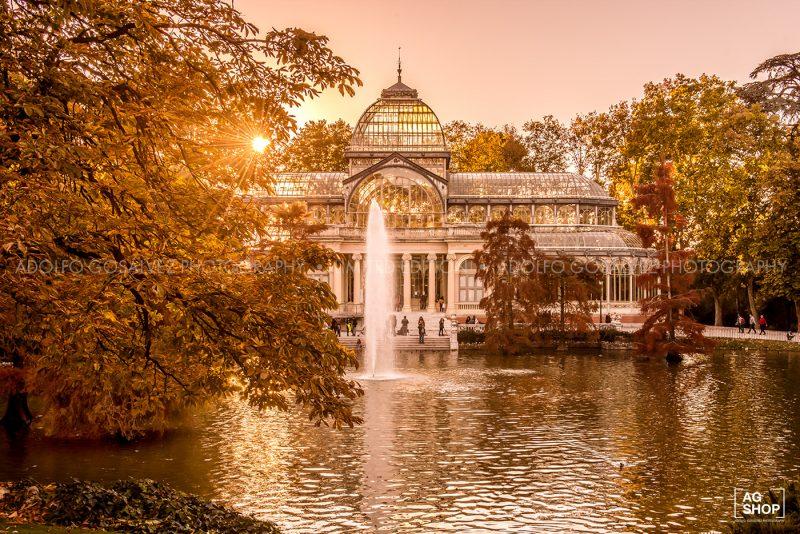 Palacio de Cristal al atardecer en Madrid, por Adolfo Gosálvez. Venta de Fotografía de autor en edición limitada. AG Shop