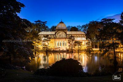 Palacio de Cristal nocturna en Madrid, por Adolfo Gosálvez. Venta de Fotografía de autor en edición limitada. AG Shop