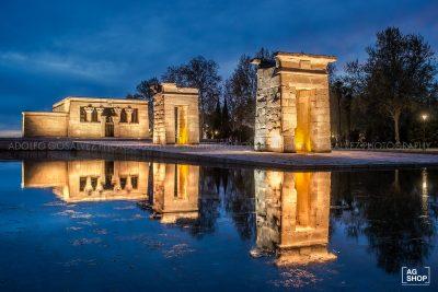 Templo de Debod nocturna, Madrid, por Adolfo Gosálvez. Venta de Fotografía de autor en edición limitada. AG Shop
