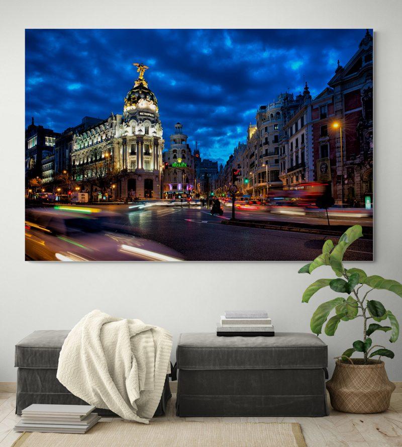 Edificio Metrópolis nocturna, Madrid, por Adolfo Gosálvez. Venta de Fotografía de autor en edición limitada. AG Shop