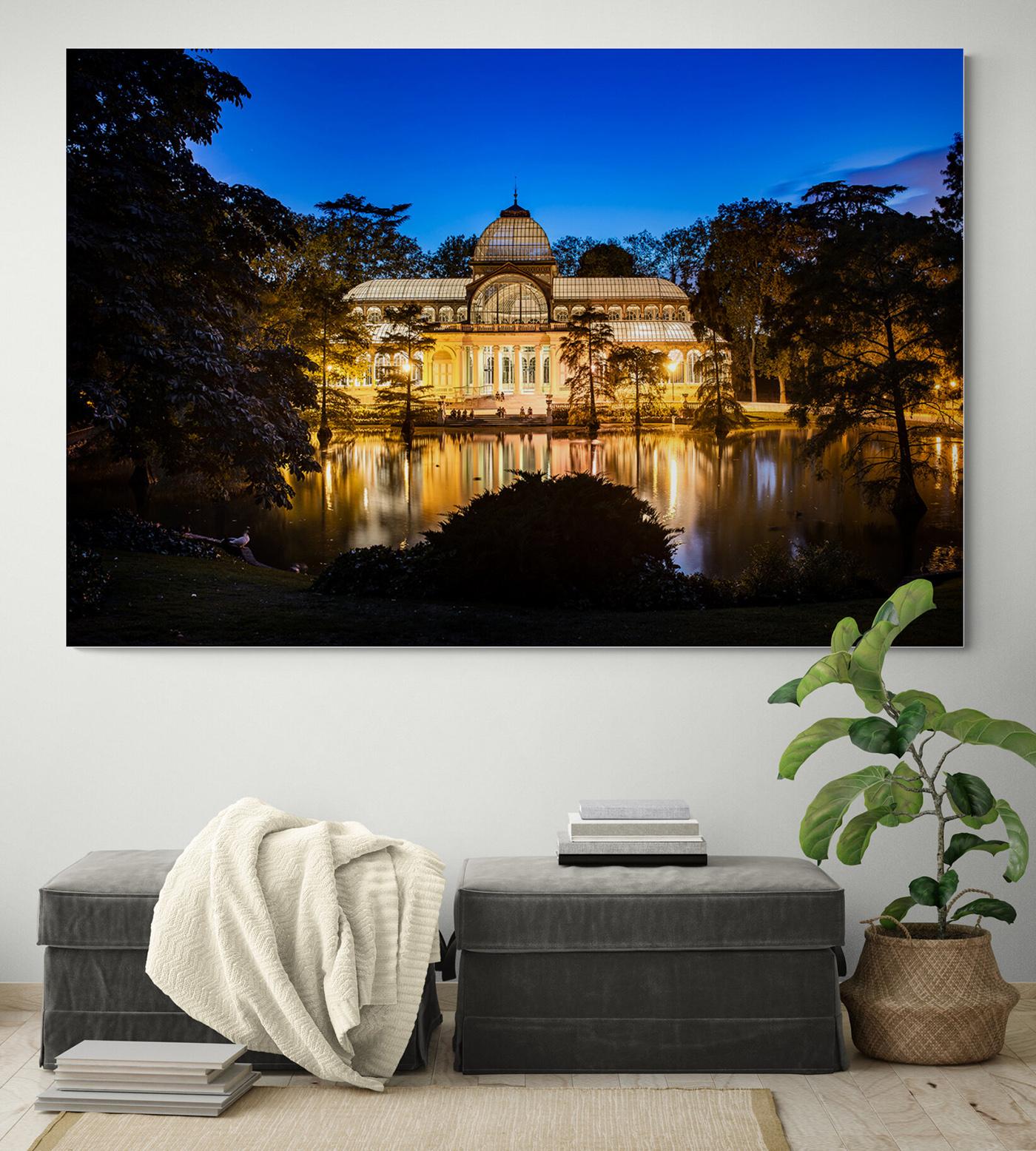 Palacio de Cristal nocturno, en el Parque del Retiro de Madrid, por Adolfo Gosálvez. Venta de Fotografía de autor en edición limitada. AG Shop