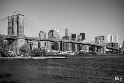 Puente de Brooklyn, Nueva York, blanco y negro, por Adolfo Gosálvez. Venta de Fotografía de autor en edición limitada. AG Shop