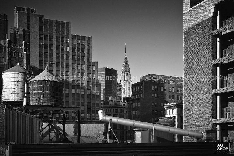 Vista de Nueva York, blanco y negro, por Adolfo Gosálvez. Venta de Fotografía de autor en edición limitada. AG Shop