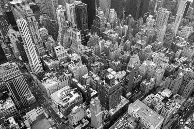 Vista Aérea de Nueva York, blanco y negro, por Adolfo Gosálvez. Venta de Fotografía de autor en edición limitada. AG Shop