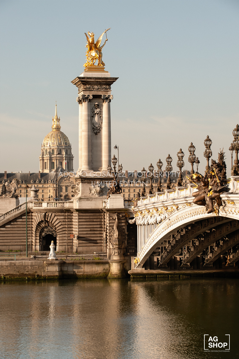 Puente de Alejandro III de París, por Adolfo Gosálvez. Venta de Fotografía de autor en edición limitada. AG Shop