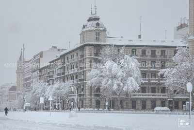 Filomena. Madrid Nevado. Calle Alcalá esquina Velázquez por Adolfo Gosálvez. Venta de Fotografía de autor en edición limitada. AG Shop