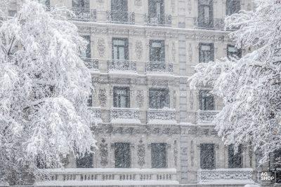 Filomena. Madrid Nevado. Calle Velázquez por Adolfo Gosálvez. Venta de Fotografía de autor en edición limitada. AG Shop