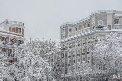 Filomena. Madrid Nevado. Plaza de la Independencia por Adolfo Gosálvez. Venta de Fotografía de autor en edición limitada. AG Shop