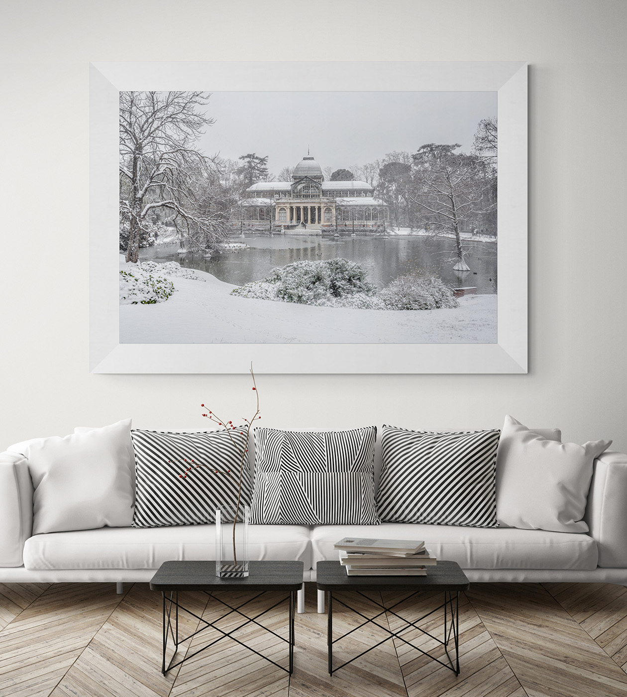 Filomena. Madrid Nevado. Palacio de Cristal en el Parque del Retiro por el fotógrafo Adolfo Gosálvez. Venta de Fotografía de autor en edición limitada. AG Shop