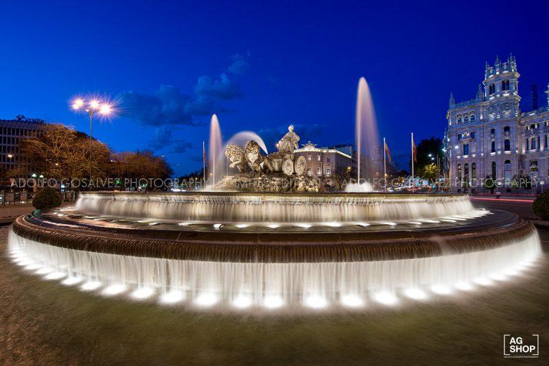 Fuente de la Cibeles nocturna, Madrid, por Adolfo Gosálvez. Venta de Fotografía de autor en edición limitada. AG Shop