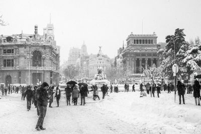 Filomena. Madrid Nevado. Plaza de Cibeles por Adolfo Gosálvez. Venta de Fotografía de autor en edición limitada. AG Shop