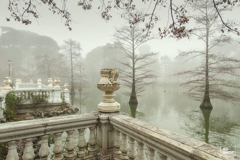 Retiro con niebla, Palacio de Cristal por Adolfo Gosálvez. Venta de Fotografía de autor en edición limitada. AG Shop