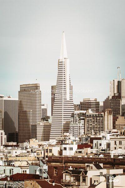 Pirámide Transamerica, San Francisco, USA, por Adolfo Gosálvez. Venta de Fotografía de autor en edición limitada. AG Shop