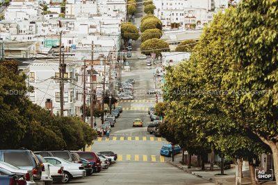 Calle Lombard en San Francisco, USA, por Adolfo Gosálvez. Venta de Fotografía de autor en edición limitada. AG Shop